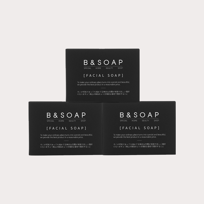 [비앤솝] FACIAL SOAP 3EA SET (+BUBBLE NET 3EA)