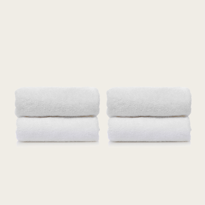 [비앤솝] WHITE TOWEL SET 4EA