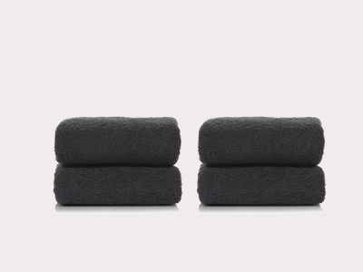 [비앤솝] DARK GRAY TOWEL SET 4EA