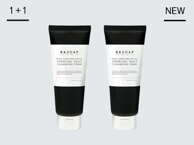 [비앤솝] PEONY SOMETHING SPECIAL CHARCOAL DAILY CLEANSING FOAM 1+1